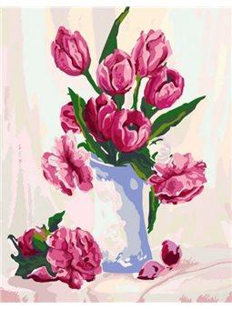 """Картина по номерам """"Нежность в вазе"""" Идейка (KHO2912)"""