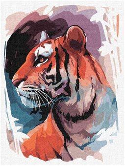 """Картина по номерам """"Взгляд тигра"""" Идейка (КНО4233)"""