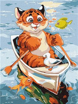 "Картина по номерам ""Веселая рыбалка"" Идейка (KHO4245)"