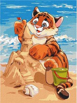"""Картина по номерам """"Пляжные развлечения"""" Идейка (KHO4247)"""