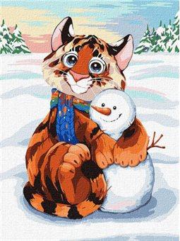 """Картина по номерам """"Снежный друг"""" Идейка (KHO4246)"""