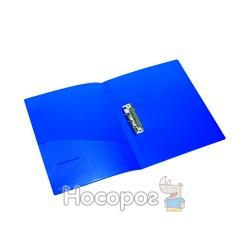 Папка с прижимом+карман А4 NORMA 5034 синяя