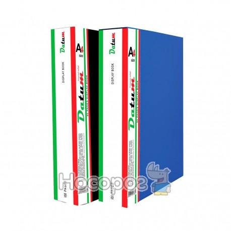 Папка с 100 файлами A4 D1800 синяя
