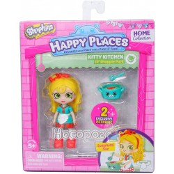 Лялька HAPPY PLACES S1 - С'Ю СПАГЕТТІ (2 ексклюзивних петкінси, підставка)