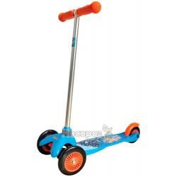 Скутер детский лицензионный HOT WHEELS (3-колесный, 2 колеса спереди, тормоза)