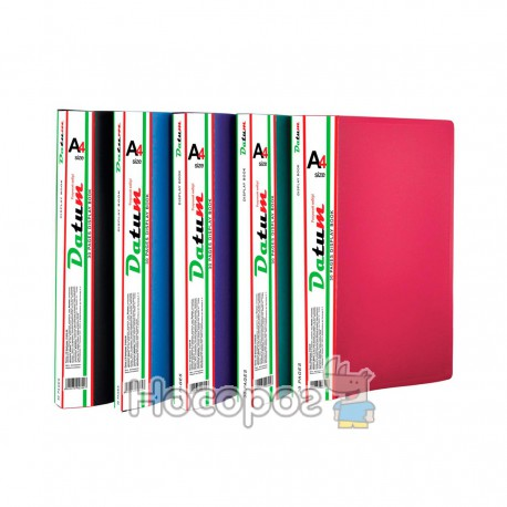 Папка с 30 файлами A4 D1830 зеленая