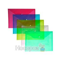 Папка на кнопке А4 4Office 4-203 прозрачная