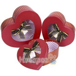 Набор подарочных коробок 36-3А-1 - Сердечки