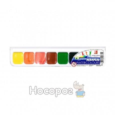 Краски Акварель Луч Классика 8 цв пластик 110211
