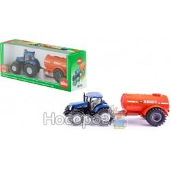 """Трактор """"Siku"""" New Holland с автоцистерной"""