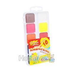 Краски Акварель Гамма 10 цв (пластик) 312044
