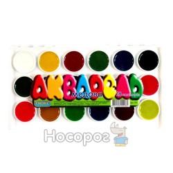 Краски Акварель Люкс колор медовая 18 цв пластик
