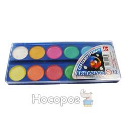 Краски Акварель Луч Перламутровая 12 цв пластик
