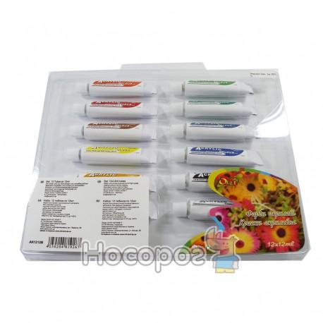 Краски OLLI акриловые 12 цветов АК 1212В/2012