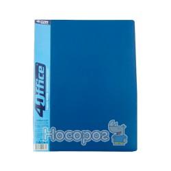 Папка со скоросшивателем и карманом А4 4Office 4-212