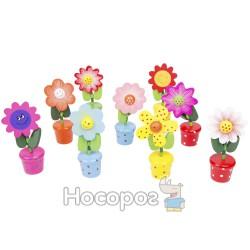 Деревянные марионетки W02-3065 цветы, 10 видов (600)