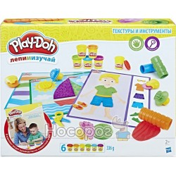 Набор Play-Doh Hasbro «ТЕКСТУРЫ И ИНСТРУМЕНТЫ»