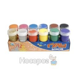 Краски Гуашь Гамма с блестками 12 цв (221039)