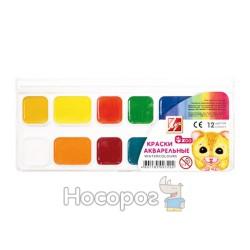 Краски Акварель Луч Зоо Mini 12 цв пластик