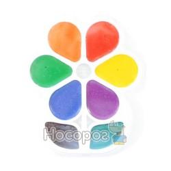 Краски Акварель Луч Цветочек 8 цв пластик