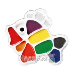 Краски Акварель Луч Рыбка 9 цв пластик