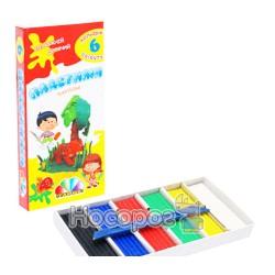 """Пластилін Гамма """"Захоплення"""" 6 кольорів зі склом (331008)"""