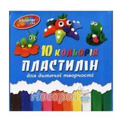 Пластилін Колорит 10 кол 250 гр