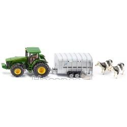 Трактор Fendt Siku с трейлером для животных