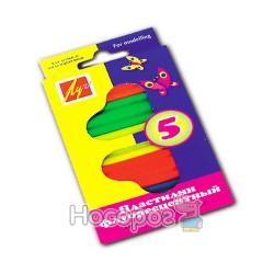 Пластилин флюоресцентный 5 цв