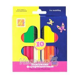 Пластилин флюоресцентный 10 цв