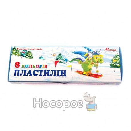 Пластилин Мицар 8 цв 200 г
