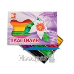 """Пластилин восковой Луч """"Премиум"""" 8 цветов"""