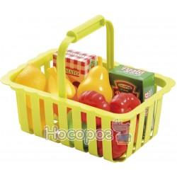 Корзина для супермаркета с продуктами Ecoiffier
