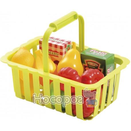 Фото Корзина для супермаркета с продуктами Smoby