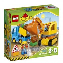"Конструктор LEGO ""Вантажівка та гусеничний екскаватор"" 10812"