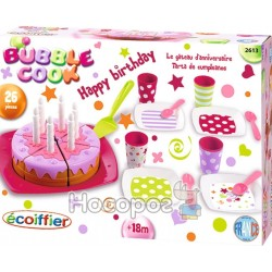 """Набор посуды Ecoiffier """"С Днем Рождения"""" с тортом 002613"""