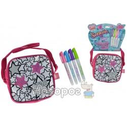 """Міні-сумочка """"Color Me Mine з блискітками. Зірки"""", 15 см, 4 маркери, 6+"""