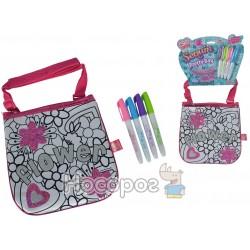 "Мини-сумочка ""Color Me Mine с блестками. Цветы"", 4 маркеры, 19 см, 6+"