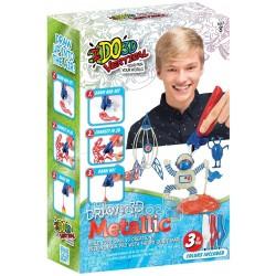 Набор для детского творчества IDO3D с 3D-маркером - МЕТАЛЛИК