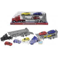 Автотранспортер з 3 машинками Dickie Toys