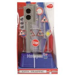 """Игровой набор Dickie Toys """"Светофор"""" с дорожными знаками 3741001"""