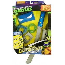Набор игрушечной оружия Серии Черепашки-ниндзя Двойная СИЛА - Снаряжение Леонардо