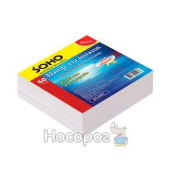 Блок бумаги для заметок клееный SOHO SH-1212