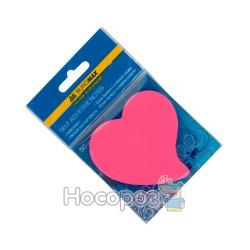 Блок бумаги для заметок с клейким слоем ВМ. 2360-99 сердце