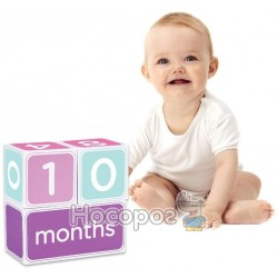 """Подарочный набор кубиков с наклейками """"Первая годовщина"""" (розовый)"""
