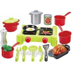 """Игровой набор Ecoiffier """"Плита и посуда"""" (21 предмет)"""