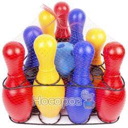732 Детская игра кегли: девять кеглей, шар