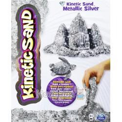 Песок для детского творчества Spin Master KINETIC SAND METALLIC серебряный