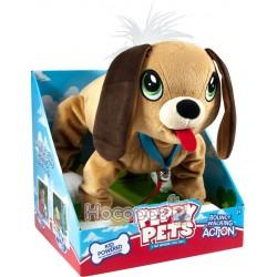 """Іграшка PEPPY PETS """"ВЕСЕЛА ПРОГУЛЯНКА"""" - БАССЕТ (розмір 28 см, нашийник, повідець)"""