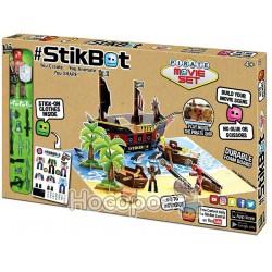 Ігровий набір для анімаційної творчості STIKBOT S2 - ОСТРІВ СКАРБІВ (1 фіг., наклейки, аксес.)